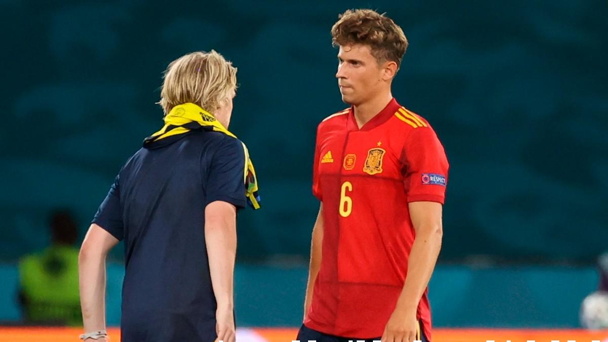 Marcos Llorente tras el España-Suecia. (AFP)