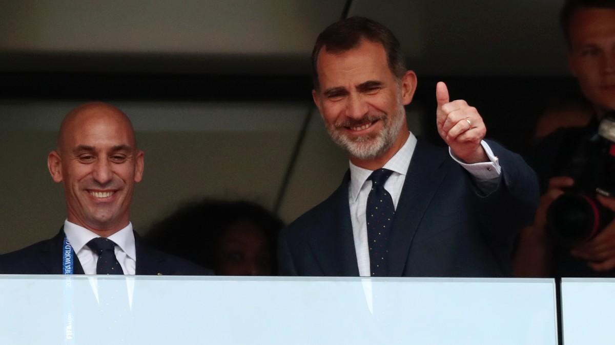El Rey Felipe VI y Luis Rubiales. (Getty)