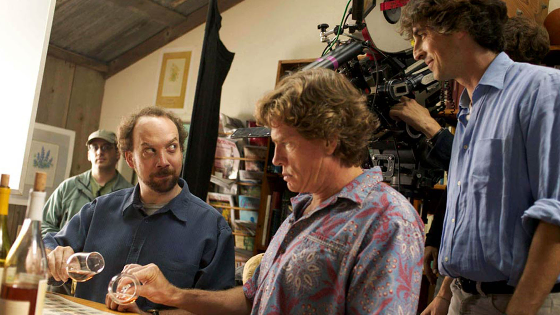Alexander Payne y Paul Giamatti en el set de «Entre copas» (Searchlight Pictures)
