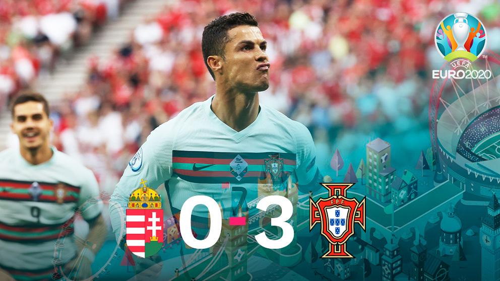 Cristiano Ronaldo fue el protagonista del debut de Portugal.