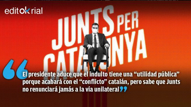 Junts arruina la justificación de Sánchez a los indultos