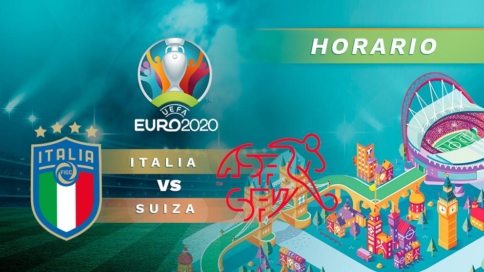 Italia – Suiza: horario y dónde ver hoy en directo por TV y online el partido de la Eurocopa 2020.