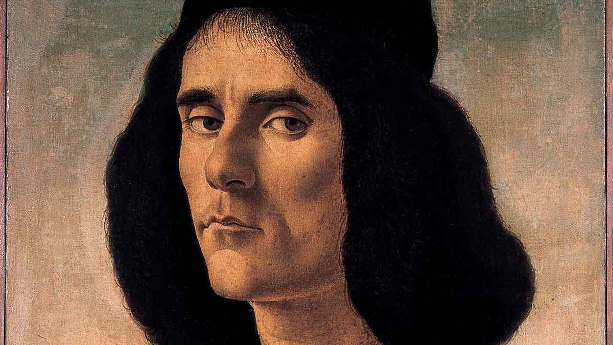 'Retrato de Michele Marullo Tarcaniota' de Sandro Botticelli (Florencia, 1445-1510)