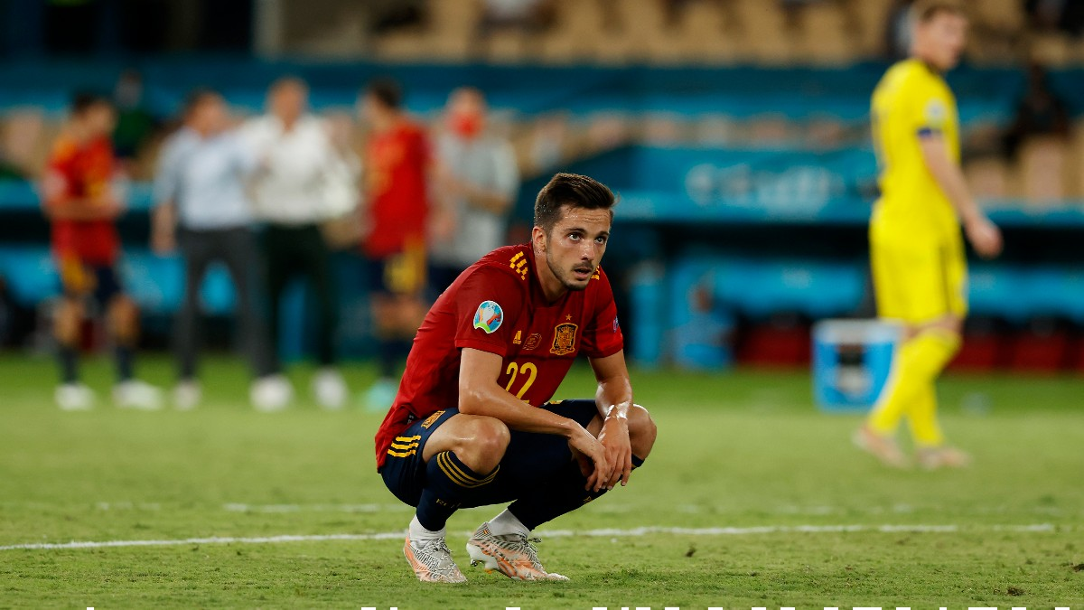 Pablo Sarabia, durante un partido de España. (Getty)
