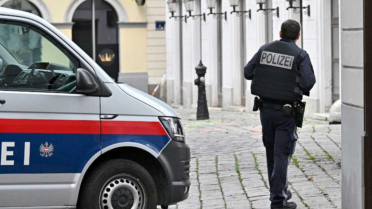 Un agente de Policía de Austria. Foto: AFP