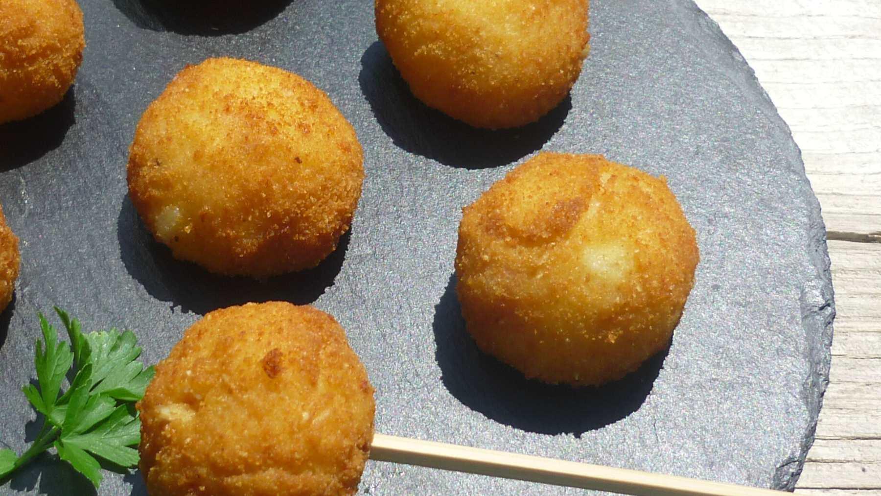 Croquetas de patata veganas