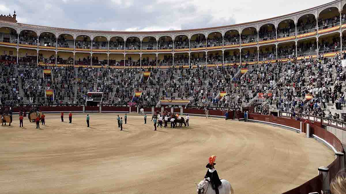 La plaza de toros de las Ventas durante la corrida benéfica