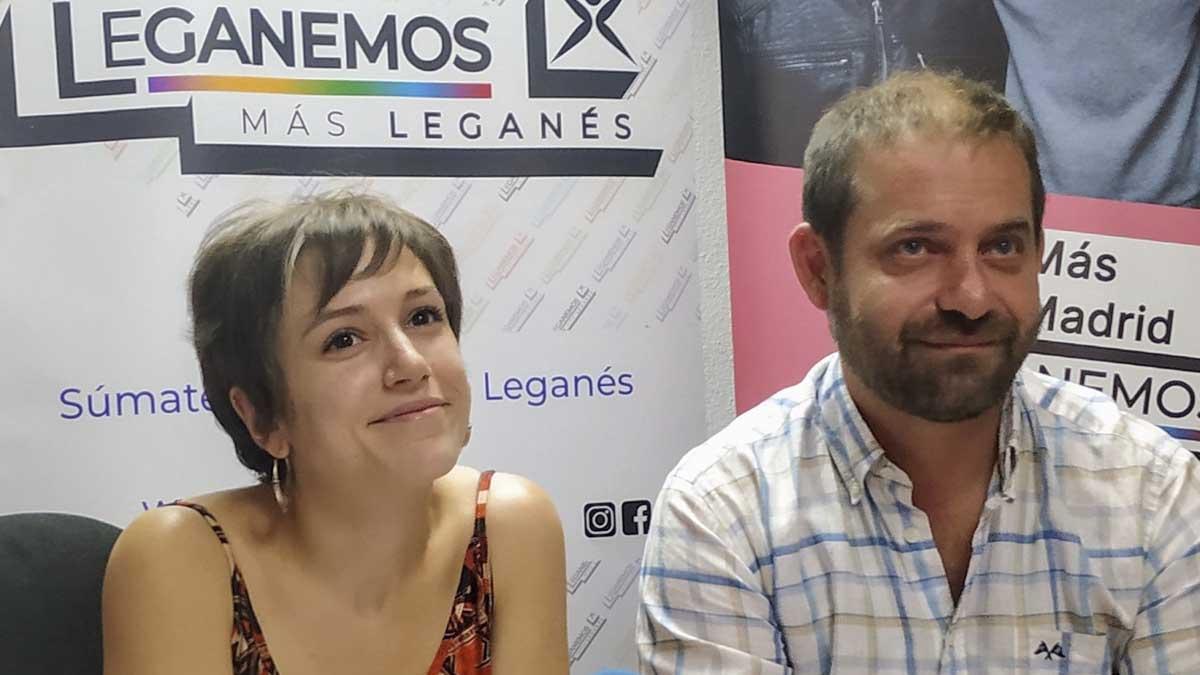 Eva Martínez y Fran Muñoz, ediles de Más Madrid. Foto: Europa Press.
