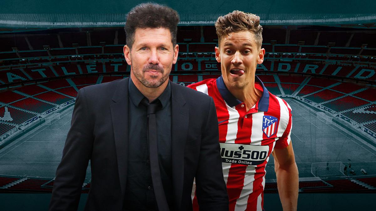 Diego Pablo Simeone y Marcos Llorente.
