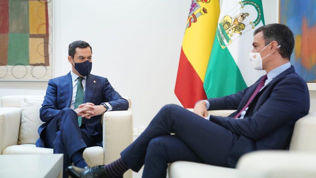 Pedro Sánchez y Juanma Moreno.