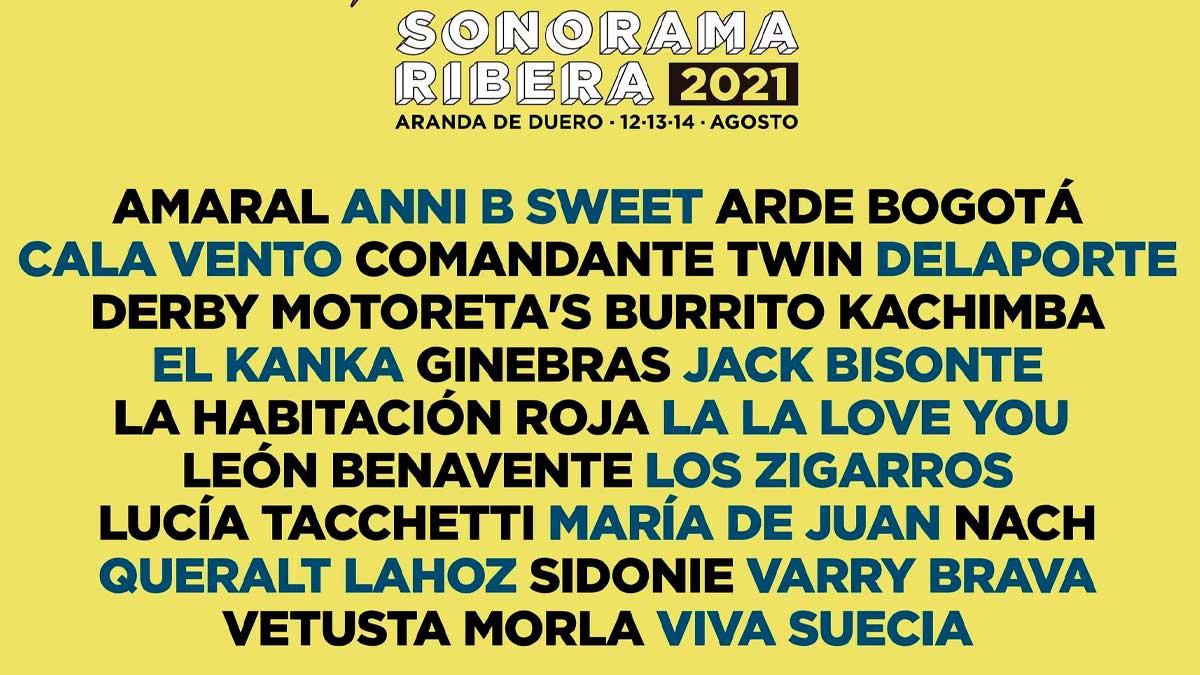 El cartel de la edición 2021 de Sonorama Ribera.