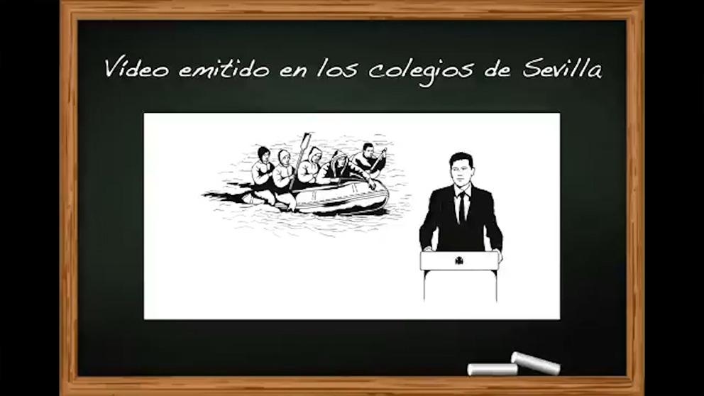 Vox denuncia en un vídeo el adoctrinamiento de Espadas contra ellos en los colegios de Sevilla.
