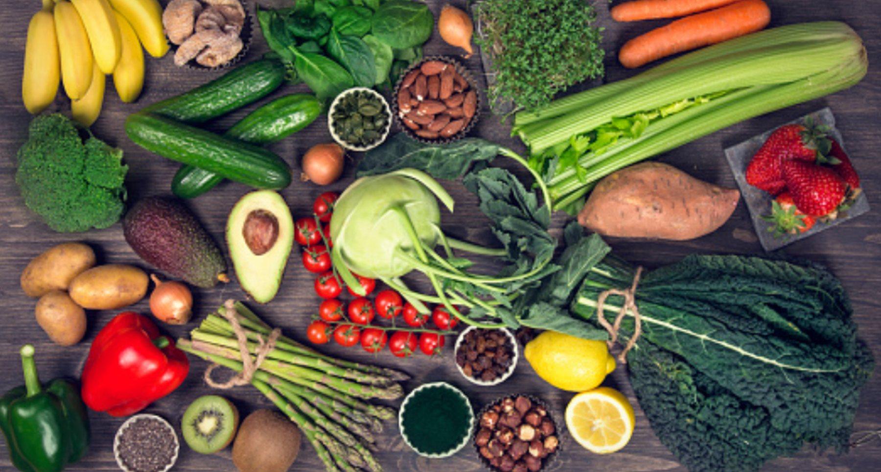 Alimentos alcalinos y ácidos: propiedades y menú diario
