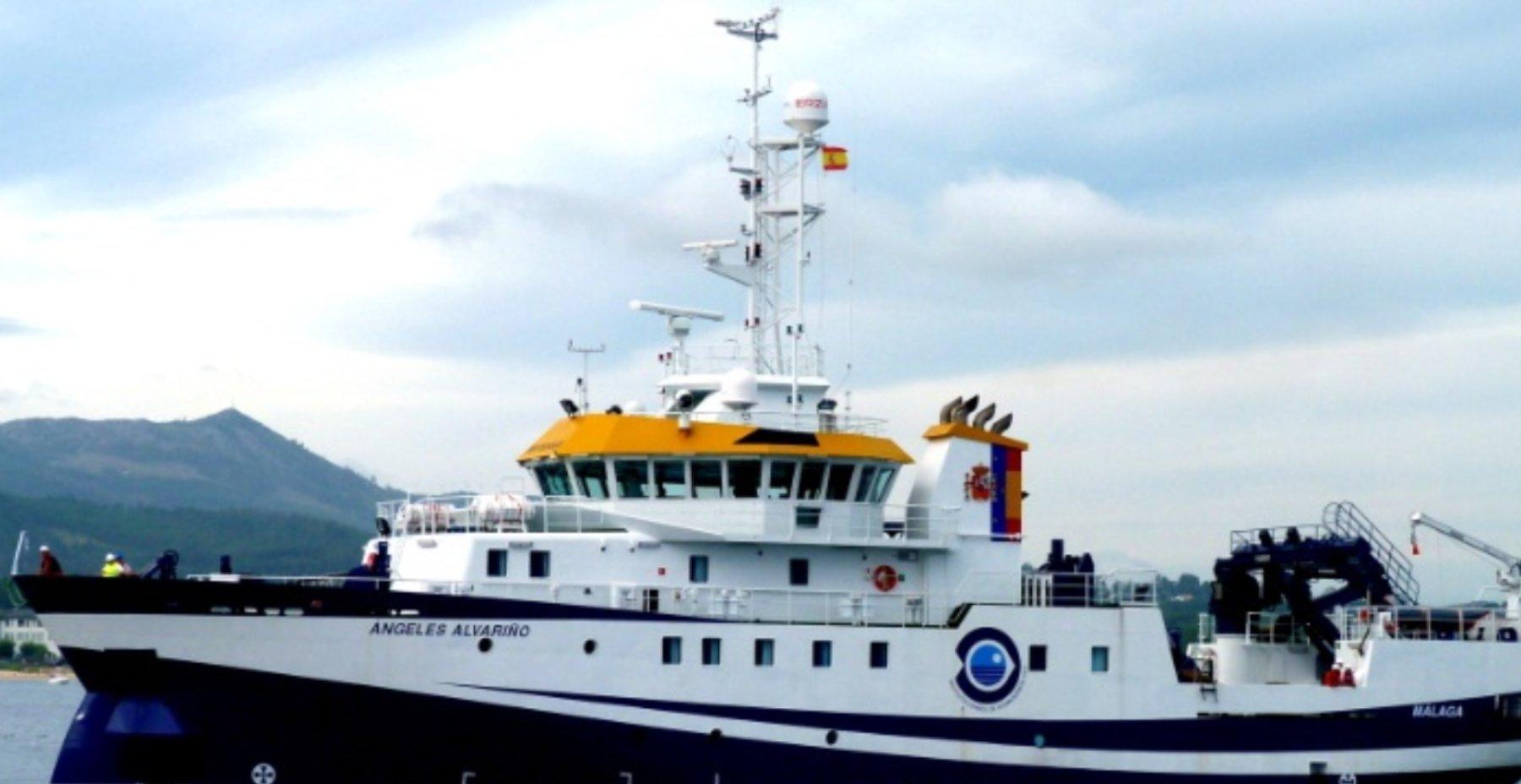 El buque 'Ángeles Alvariño'