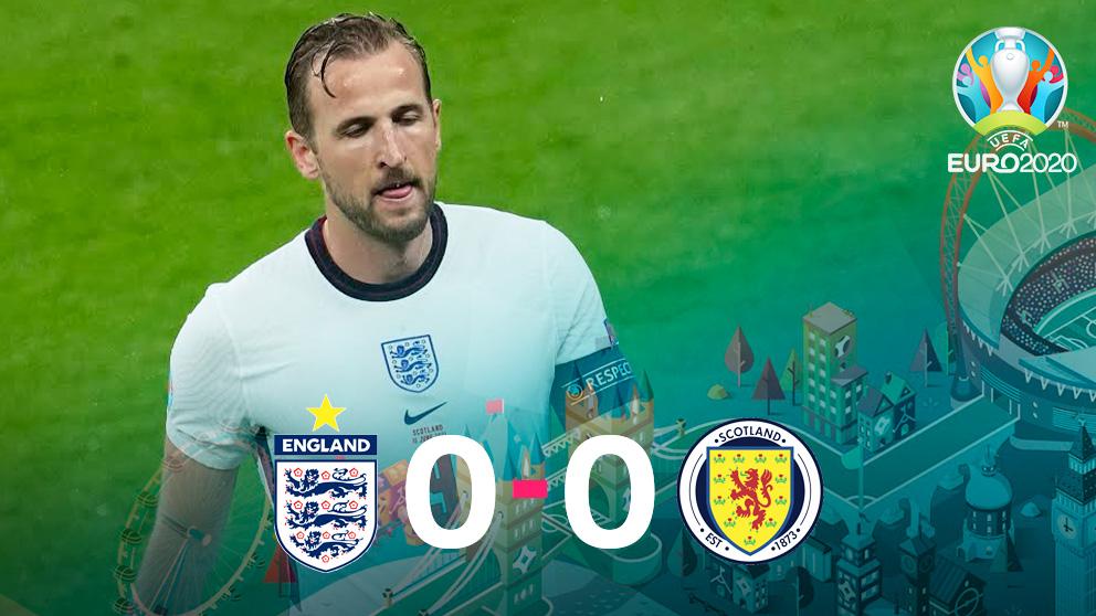 Inglaterra y Escocia empataron en Wembley.