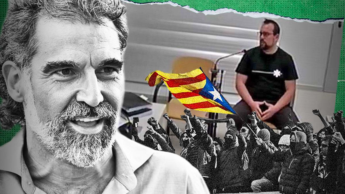 El preso Jordi Cuixart y el CDR Ferran Jolis declarando en sede judicial.