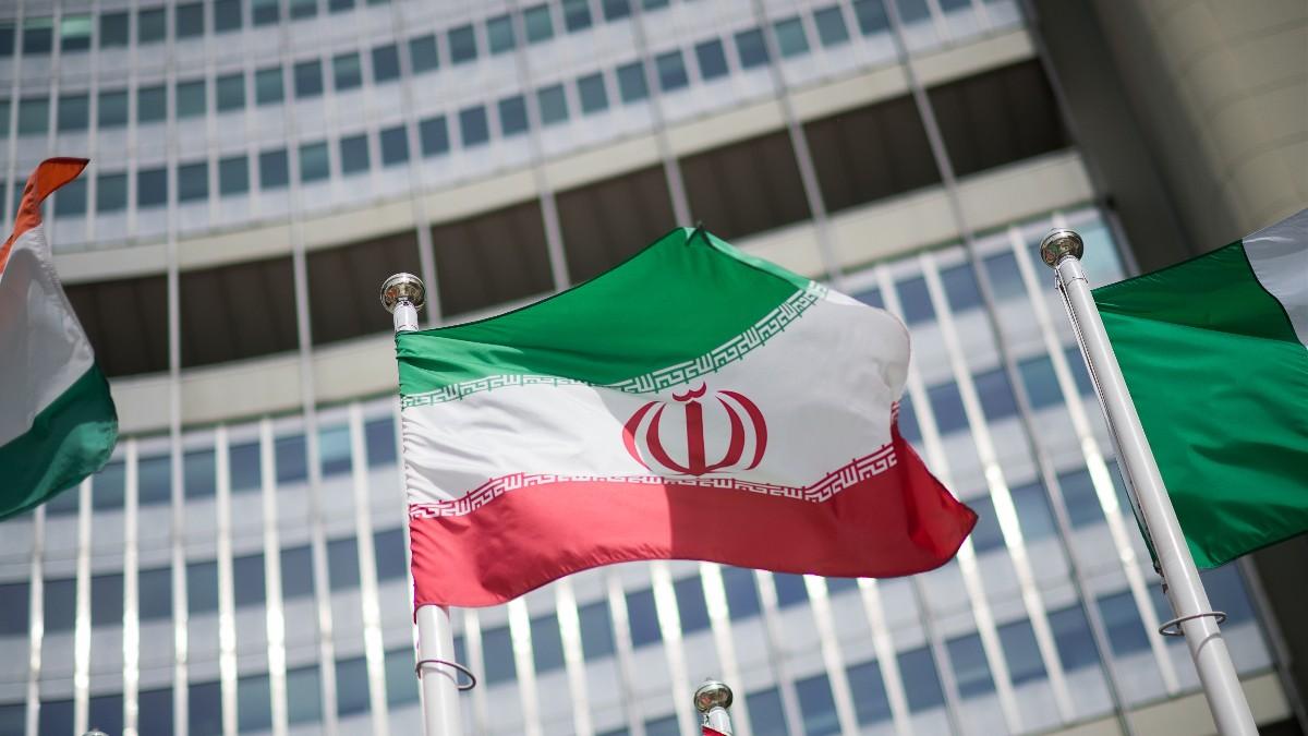 Bandera de Irán en la sede de la Agencia Internacional de la Energía Atómica en Viena.