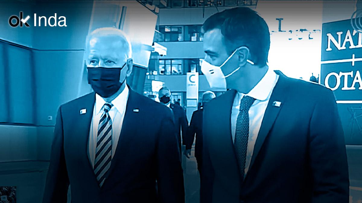 Joe Biden y Pedro Sánchez en Bruselas.