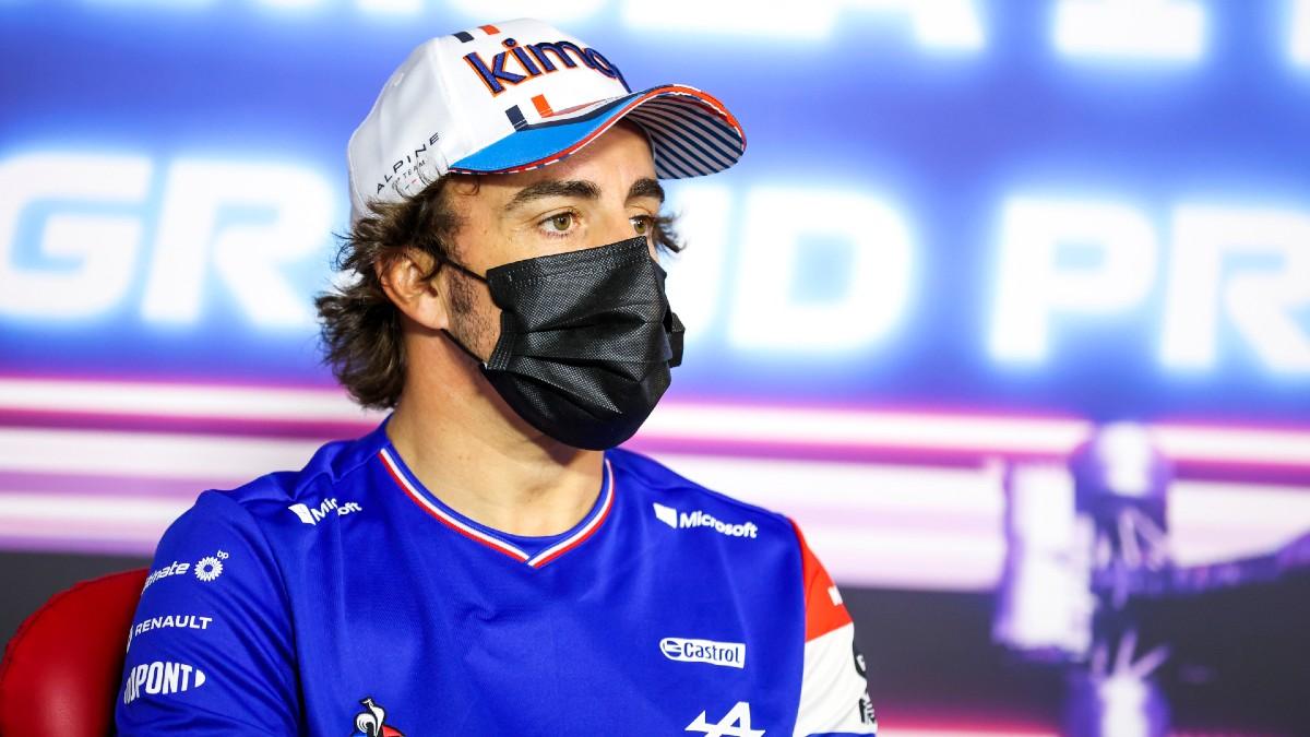 Fernando Alonso, en rueda de prensa del Gran Premio de Francia. (Getty)