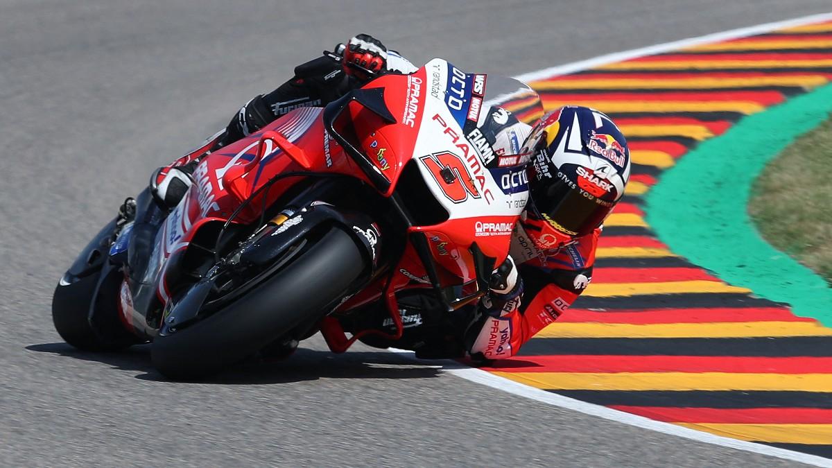 Johann Zarco durante la clasificación del GP de Alemania de MotoGP. (AFP)