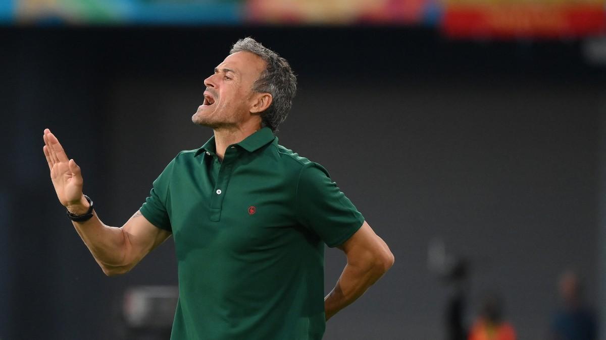 Luis Enrique, durante un partido. (AFP)
