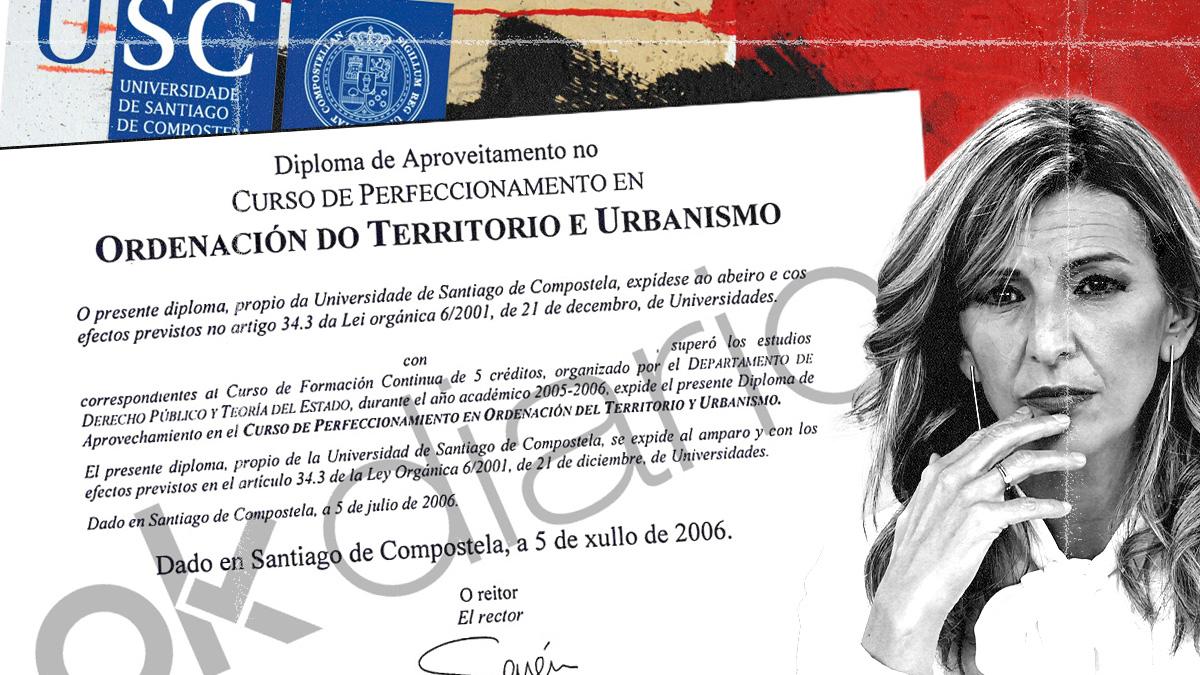 Yolanda Díaz hizo un curso de «formación continua» en Urbanismo en la Universidad de Santiago y no un máster.