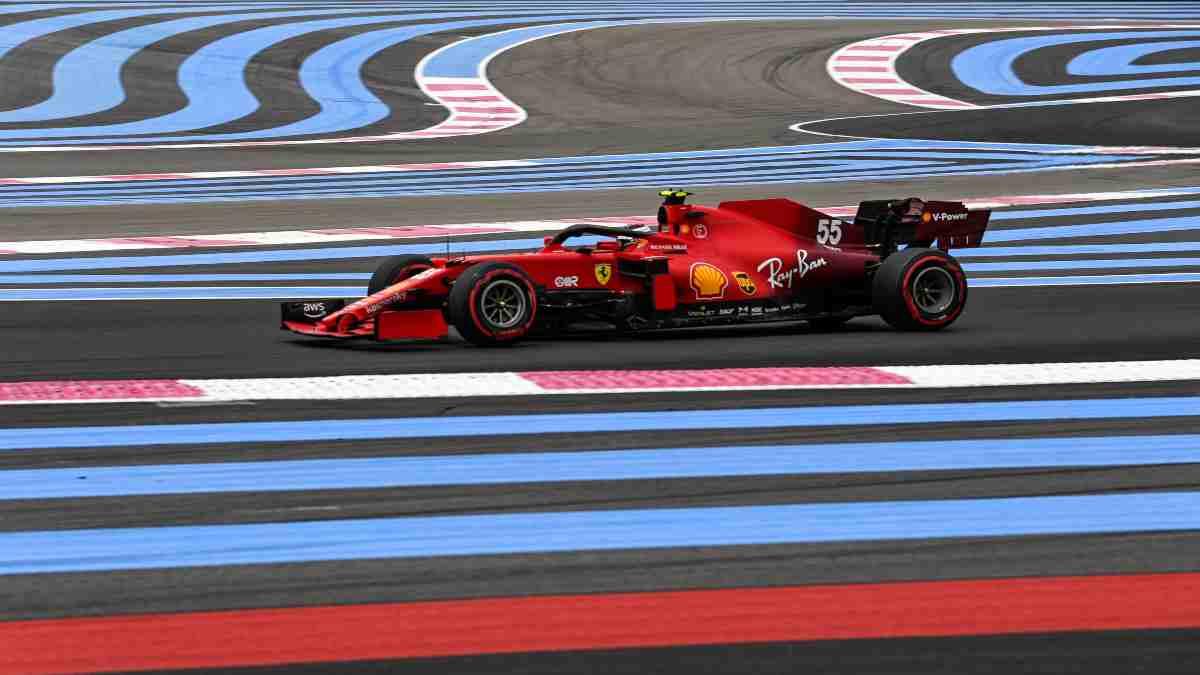 Carlos Sainz durante el Gran Premio de Francia. (AFP)