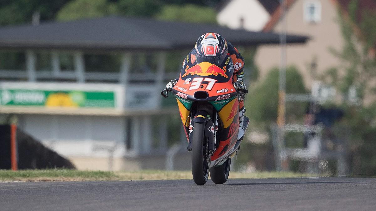 Pedro Acosta durante el Gran Premio de Alemania. (Getty)