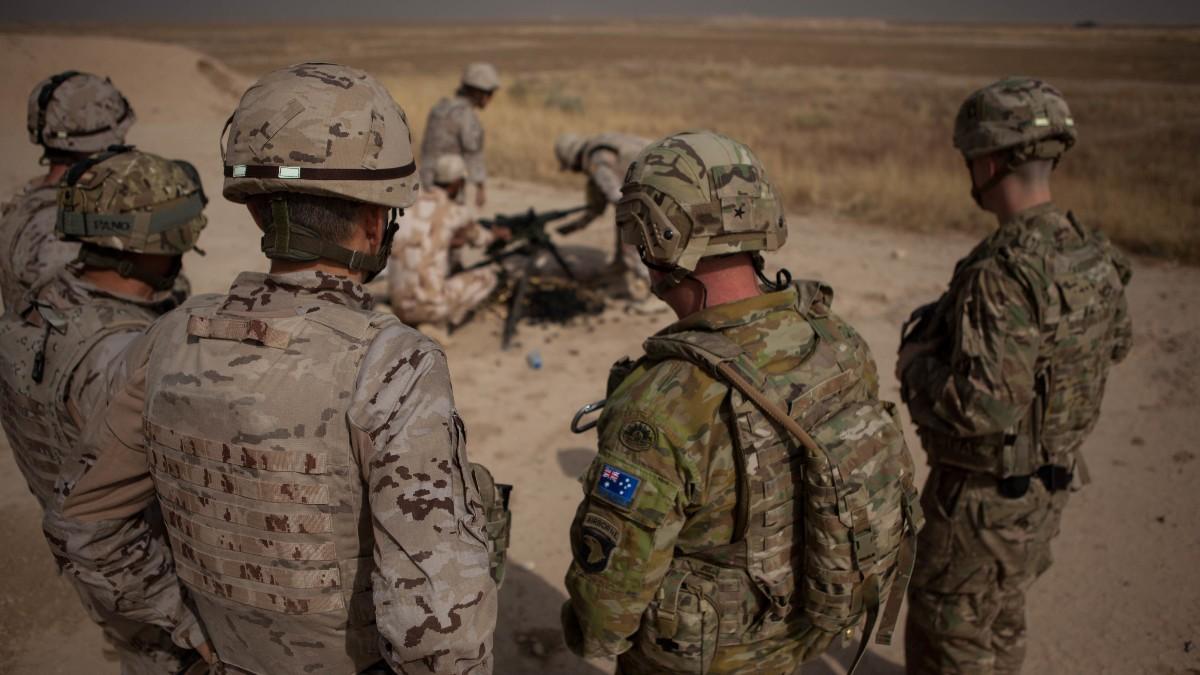Soldados de Estados Unidos en Irak.