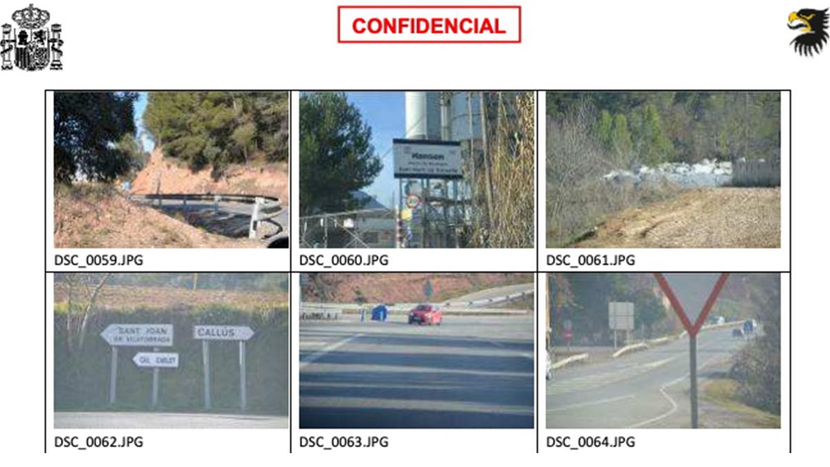 Imágenes tomadas por uno de los imputados del acceso a la prisión de Lledoners (Barcelona).