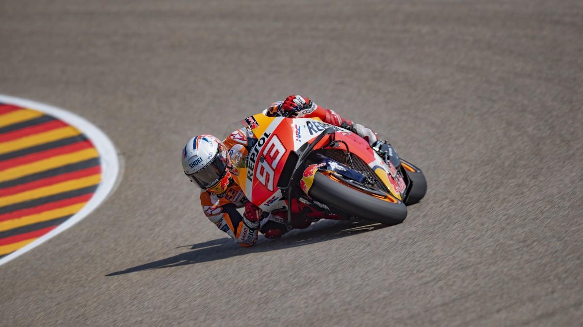 Marc Márquez durante el Gran Premio de Alemania de MotoGP. (Getty)