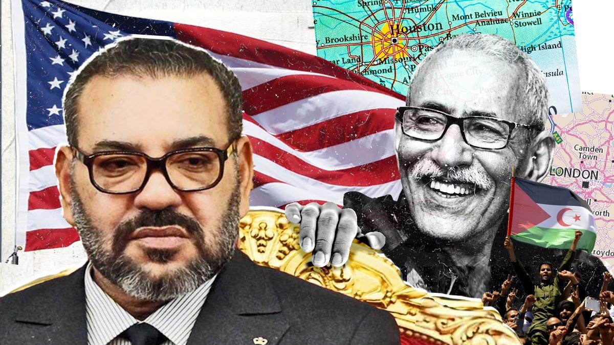 El rey Mohamed VI y Brahim Ghali.