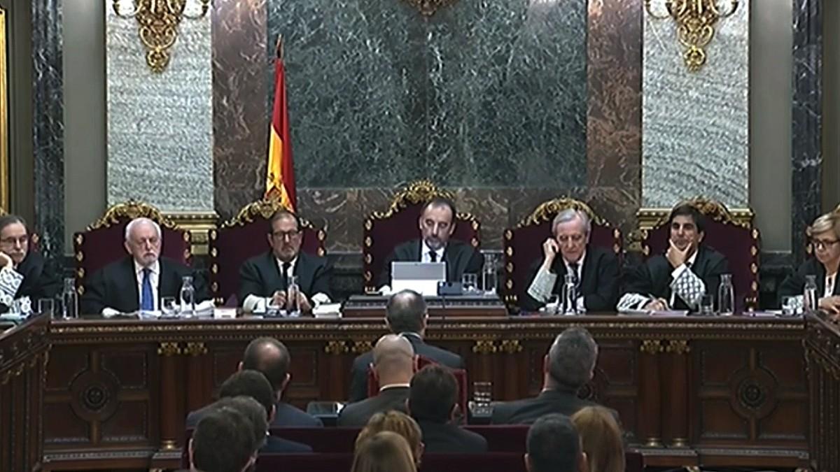El ex consejero de la Presidencia, Jordi Turull, declara en el Tribunal Supremo.