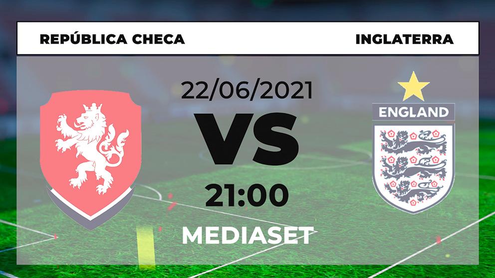 Dónde ver República Checa – Inglaterra hoy online en directo el partido de la Eurocopa 2021.