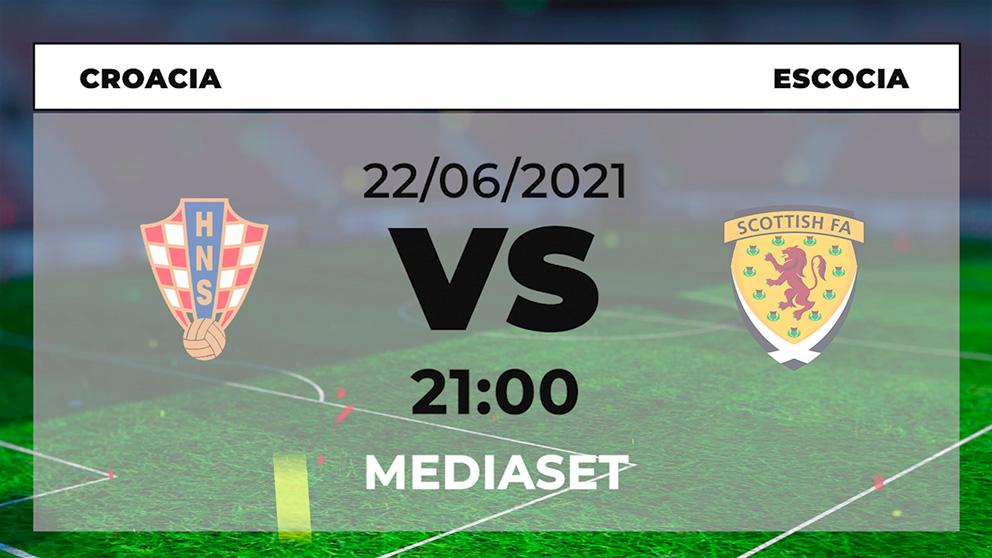 Dónde ver Croacia – Escocia hoy online en directo el partido de la Eurocopa 2021.