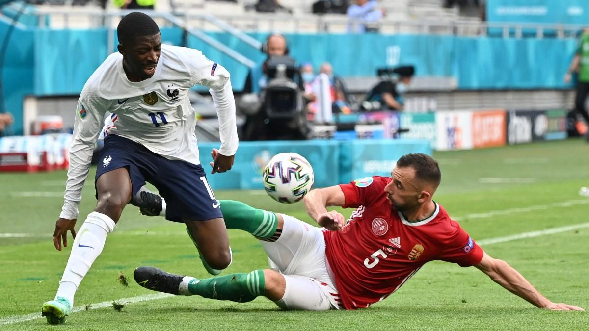 Dembélé, en el Francia-Hungría de la Eurocopa. (AFP)