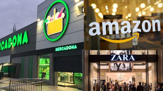Mercadona, Amazon, Zara