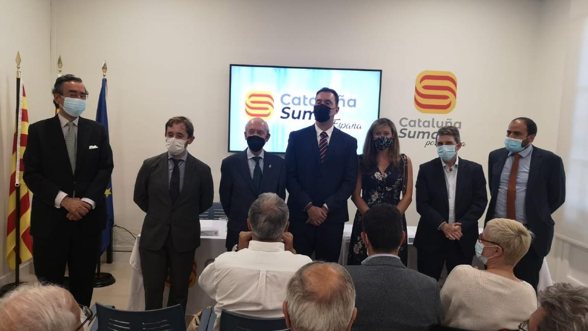 Acto en defensa de la Constitución en Barcelona.