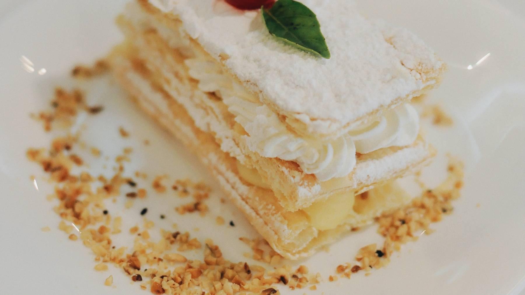 Mini milhojas de tarta