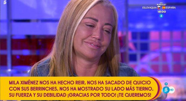 Belén Esteban recuerda a Mila Ximénez