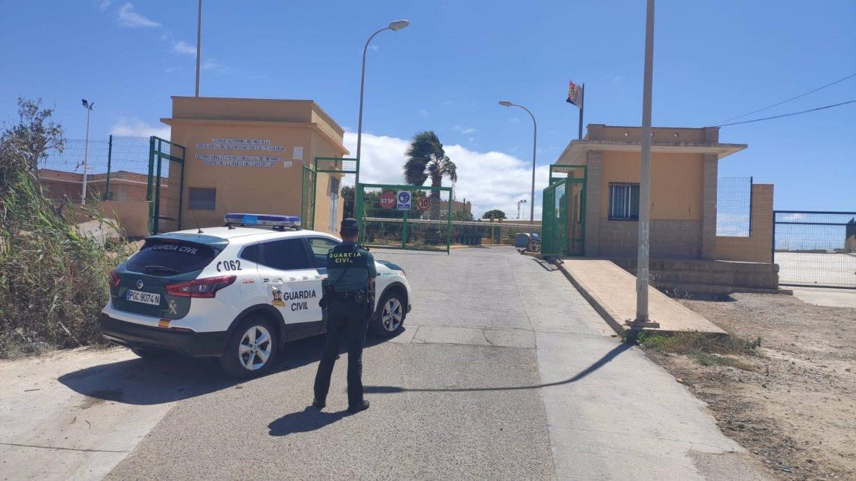 Inmediaciones del lugar de los hechos, en Melilla (GUARDIA CIVIL).