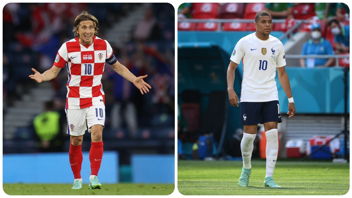 Modric y Mbappé. (AFP)
