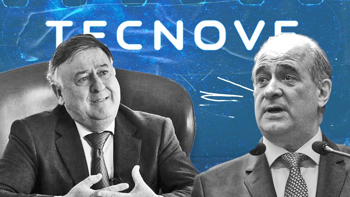 El presidente de Tecnove, Eusebio Ramírez, con Francisco Pardo Piqueras.
