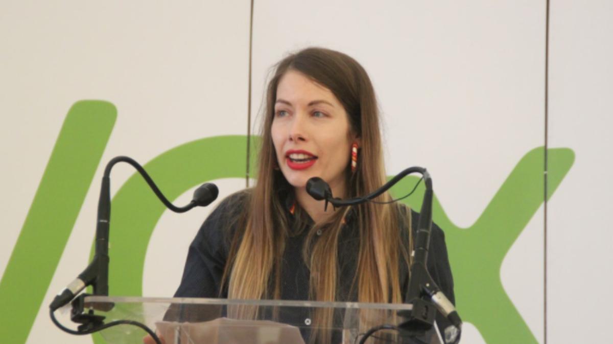 La presidenta de Vox en Sabadell, Patricia Muñoz.