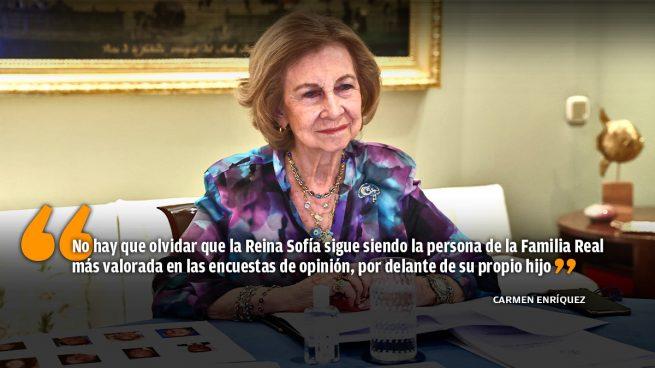 El alejamiento de la Reina Sofía del núcleo de la Familia Real
