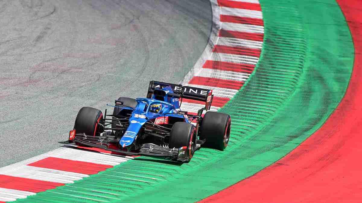 Fernando Alonso en el Gran Premio de Estiria. (AFP)