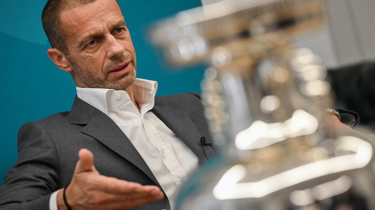 Aleksander Ceferin, presidente de la UEFA (AFP)