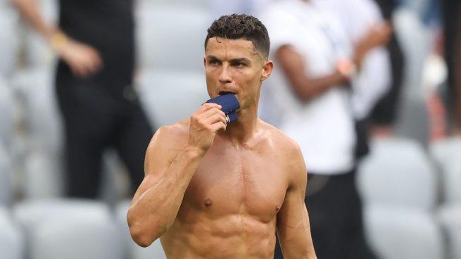 Cristiano Ronaldo en la Eurocopa (Getty)