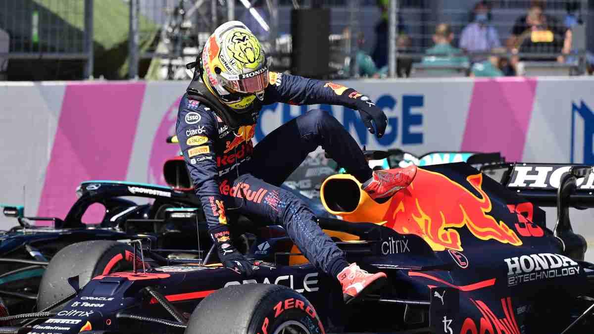 Max Verstappen tras la sesión de clasificación del Gran Premio de Estiria. (AFP)