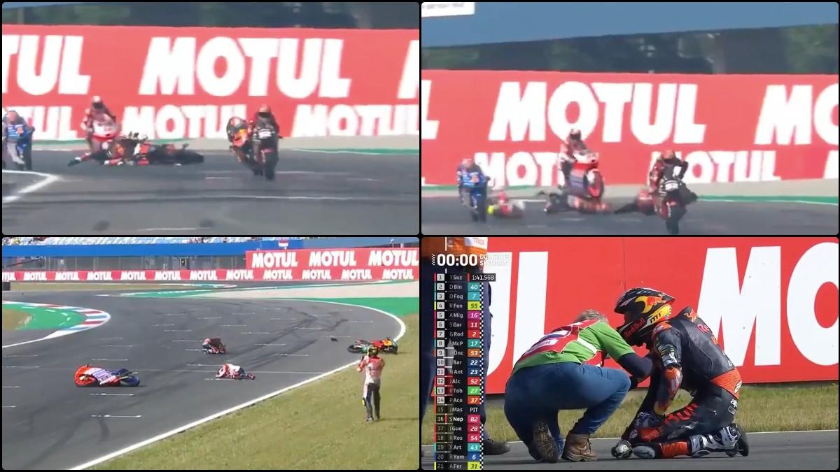 Pedro Acosta sufrió un terrible accidente durante los libres 3.